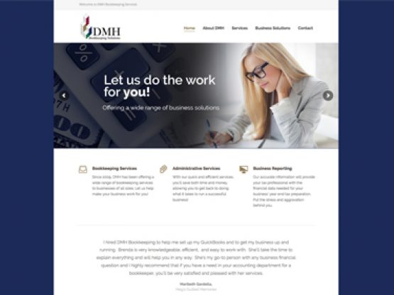DMH Bookkeeping Website